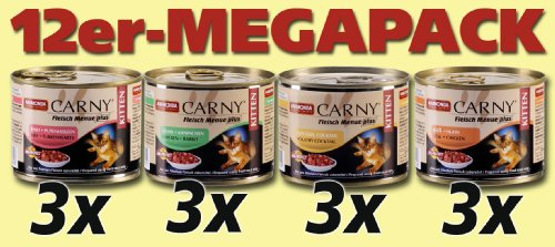 Animonda Carny 83347 Kitten Mix1 12 x 200 g - Katzenfutter