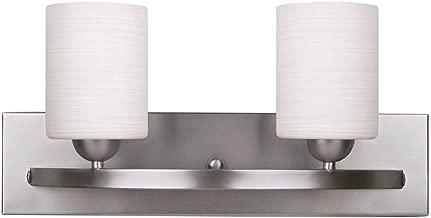 WholesalePlumbing IVL370A03BPT Vanity Light Fixture Bath Interior Lighting (Brushed Nickel, 2 - Lights)