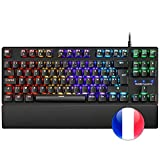 Mars Gaming MKXTKL, Clavier mécanique de Jeu, RGB, Switch Rouge, Layout FR