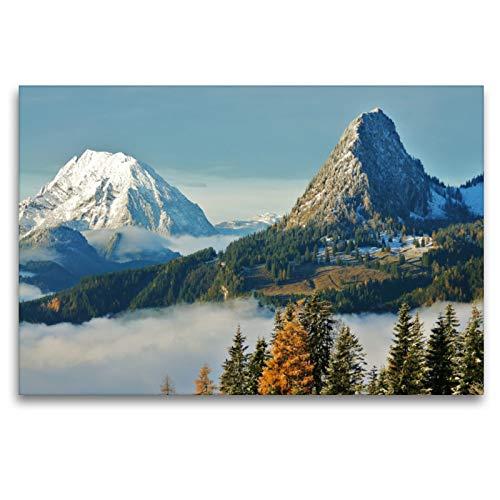 Premium Textil-Leinwand 120 x 80 cm Quer-Format Faszination Herbst | Wandbild, HD-Bild auf Keilrahmen, Fertigbild auf hochwertigem Vlies, Leinwanddruck von Leo Bucher
