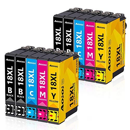 Aoioi Cartucce 18 XL Compatibile con XP-202 XP-205 XP-212 XP-215 XP-302 XP-305 XP-312 XP-315 XP-402 XP-405 XP-412 XP-415