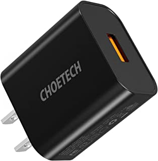 Q5003 CHOETECH USB Charger, 18W USB Wall Charger Quick Charge 3.0 Fast Charging Travel Adapter Fast Charging Compatible Wi...
