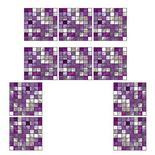 Adhesivos Para Azulejos Pegatina de pared, PVC Azulejos, diseño de mosaico, efecto 3d, Cenefa autoadhesivo, Para cuarto de baño y cocina Decorativos