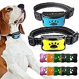 2 PCS Anti Barking Device 5 in 1 USB Electric Ultrasonic Dogs Training Collar Dog Stop Barking Vibration Anti Bark Collar Dropship