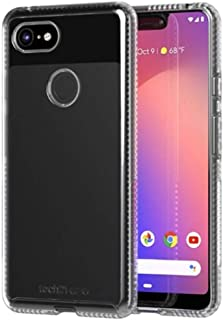 Tech21 Protective Google Pixel 3 XL Ultra Thin Back Cover with BulletShield Protection - Pure Clear - Transparent