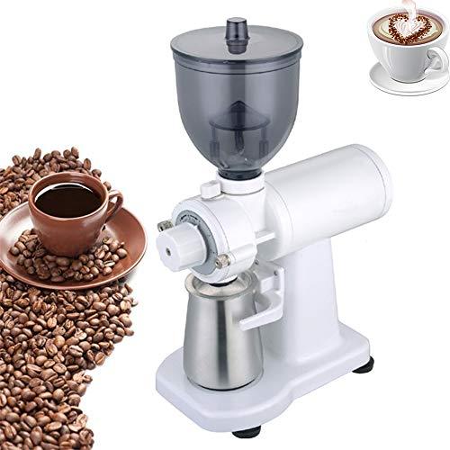 Elektrische Koffiemolen Automatische pepermolen koffieboon slijpmachine 5 Levels Verstelbare Grinder Machine voor huishouden,White