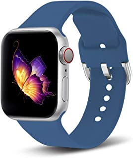 Mucson Sport Band Compatible with Apple Watch Band 42mm 38mm 44mm 40mm S/L Replacement Nike Sport Iwatch Strap Series 4 3 2 1 Women Men (Jewelry Blue, SM-42/44)