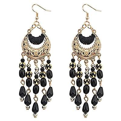 Paymenow Clearance Women Girls Handmade Tassel Earrings Cute Dangle Earring Thread Jewelry Bohemian Stud Drop Earrings