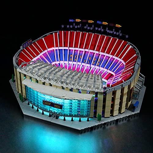 YBLOC Kit De Iluminación LED para Lego 10284 Camp NOU FC Barcelona Stadion, Espectáculo De Luces Compatible con Lego 10284 (No Incluye El Juego De Lego)