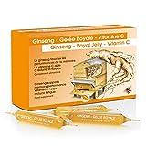 Ampoules Ginseng - Gelée Royale - Vitamine C I Tonus Et Vitalité I Défenses Naturelles Et Energie I Multi-Vitamines - 20x10 ml 116003