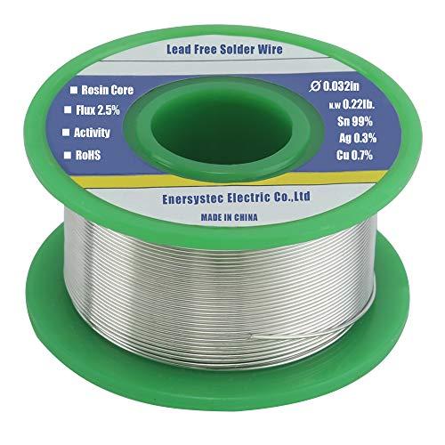 Lötdraht, Kolophonium-Flux-Kern, bleifrei, 0,8 mm, 100 g, Sn99 Ag0.3 Cu0.7, 100 g, für hochpräzises Elektroniklöten