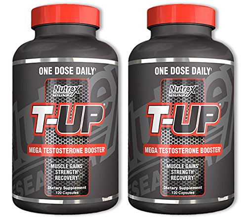 Nutrex T-Up Mega Testosterone 120 Capsules (2 Pack)