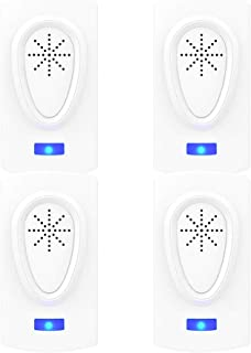Bocianelli Ultrasonic Pest Repeller 4 Packs,Electronic Indoor Plug in for Insects Mice Ant Mosquito Spider Rodent Roach, Good Repellent for Children and Pets' Safe