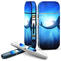 IQOS 2.4 plus 専用スキンシール COMPLETE アイコス 全面セット サイド ボタン デコ 魚 くじら 海 012652