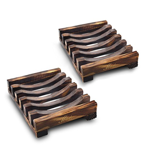 Our #2 Pick is the Magift 2 Piece Home Bathroom Wooden Soap Dish