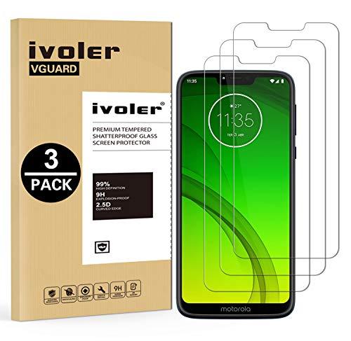 VGUARD [3 Pack] Pellicola Vetro Temperato per Motorola Moto G7 Power, Pellicola Protettiva Protezione per Schermo per Motorola Moto G7 Power