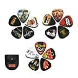 Guitar Picks 15 Pack Includes Thin, Medium and Heavy Specifications and Guitar Picks Holder, Suitable for Bass, Ukulele, Electric Guitar and Original Guitar