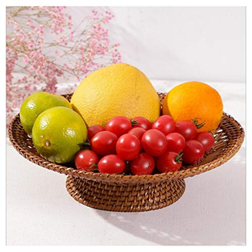 Fruit Bowl Rieten Fruit Mand Handgemaakte Geweven Opslag Mand Fruit Plate Snacks Desktop Organizer Keuken Dineren Fruit Bowl