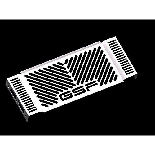 Suzuki GSF 1250 Bandit BJ 2007-14 Kühlerabdeckung Wasserkühler Kühlergrill Kühlerschutz Kühlergitter Kühlerschutzgitter Kühlerverkleidung Logo silber