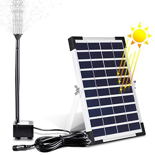 MVPower Solarpumpe Teichpumpe Solar wasserpumpe Gartenpumpe Springbrunnen Solarteichpumpe 5W,380L/H