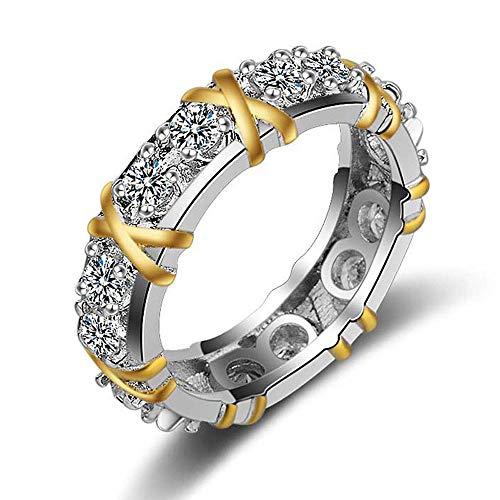 Mode Frauen Farbseparations Goldhochzeits Verlobungs Blumenring YunYoud Hochzeit Engagement Floral Ring siegelring der eine ausgefallene