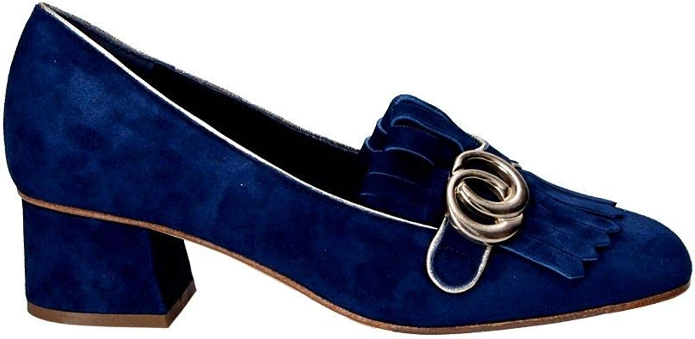 THE SELLER Women's S5662 bluee Suede Pumps