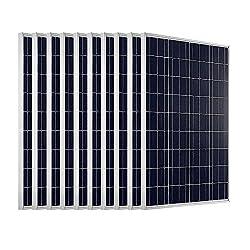 ECO-WORTHY solar module, 100 W, 12 Volt, polycrystalline, for charging batteries.