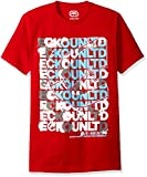 Ecko Unltd. Men's Scrambled Scrabble Logo Short Sleeve Tee, Red, 2XL