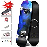 Phoeros Complete Skateboards -Standard Skateboards for Beginners Starter - 31''x 8''Canadian Maple Pro Cruiser Standard Skate Boards