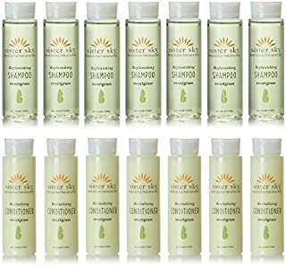 Sister Sky Sweet Grass Shampoo & Conditioner lot of 14 (7 of each) 1oz Bottles.