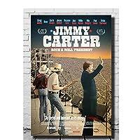 ジミーカーターロックンロールプレジデントムービーアートキャンバスポスターウォールプリント部屋の装飾写真リビングルームの寝室の装飾60x90cmフレームなし