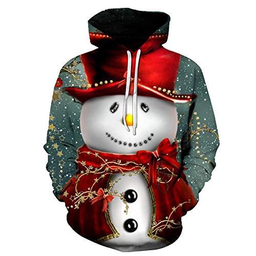 Mr.1991INC&Miss.GO Weihnachten LäSsig Lose 3D Druck Hoodie Sweatshirt 9 Code