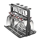 Spares2go Universal Copa de vino cesta lavavajillas Rack (8vasos)