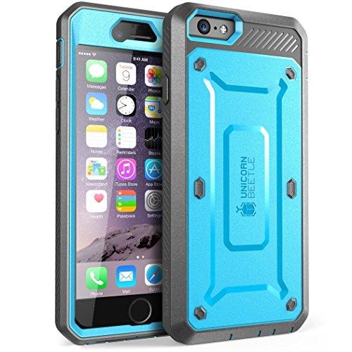SUPCASE Hülle für iPhone 6 / iPhone 6s Handyhülle [Unicorn Beetle Pro] 360 Grad Hülle Outdoor Schutzhülle Rugged Cover mit Gürtelclip & Integriertem Bildschirmschutz 4.7 Zoll, Blau