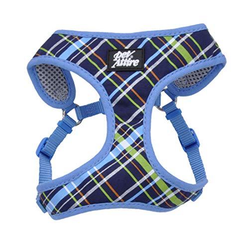 Coastal Pet Attire Dog XXS Blue Plaid wrap Harness 14-16