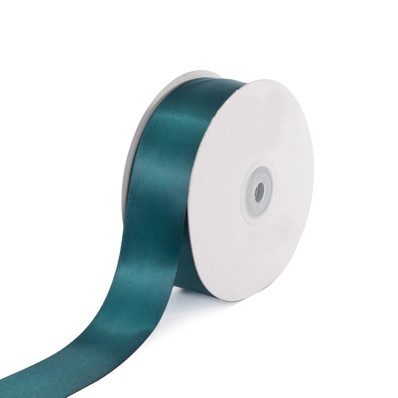 Creative Ideas Solid Satin Ribbon, 1-1/2-Inch by 50 Yard, Hunter Green, Solid