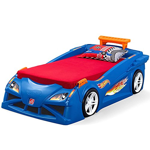 Step2 Hot Wheels Toddler to Twin Bed with Lights Vehicle, Model Number: 854600