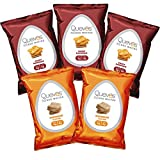 Variety 5 Pack of Quevos Classic Flavors - High Protein Egg White Chips - High Fiber Crunchy Snack Made with Avocado Oil - Gluten Free Grain Free and Guiltless (1.1 oz bags - 5 pack)