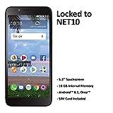 Net10 Carrier-Locked TCL LX 4G LTE Prepaid Smartphone - Black - 16GB - Sim Card Included - CDMA