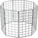 5 Paneles para Mascotas, Perros, Cachorros, corralito Plegable para Perros, Valla metálica para Animales, Interior/Exterior, Jaula para Perros, Cachorros, Gatos, Conejos (Altura 100 cm)