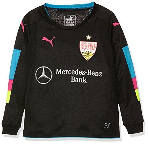 PUMA Kinder Torwartshirt VfB GK, Black-Atomic Blue, 176