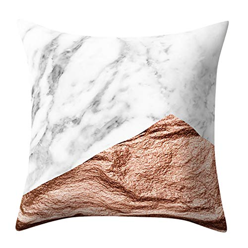 Kissenbezug 45 x 45 cm Super weicher Stoff Geometrische Marmor Textur deko Kissenbezüge Sofa Taille Wurf Kopfkissenbezug kissenhülle Pillow Cover by LuckyGirls (C)