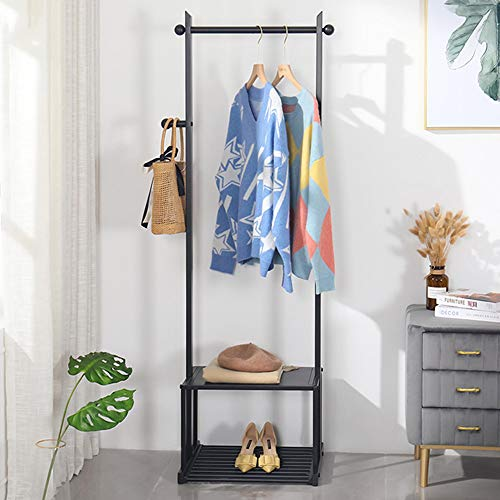 Clothing display rack Stand - Vintage Coat Stand- Clothes Hat Rack Shelf Shoe Clothes, hats, bags, shoes and umbrellas can be placed Storage Rack Coat Rack with Shoe Rack Home Office Hallway Bedroom