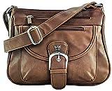 Purse King Pistol Concealed Carry Handbag (Dark Brown)