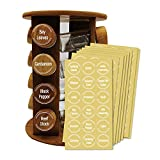 144 Spice Labels Preprinted - White Spice Jar Stickers. White Spice Names Letters on Round Clear Stickers