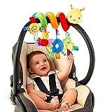 LOVONLIVE - Giocattolo a spirale, per passeggino, a spirale, per attività a forma di passeggino, con campanellino, morbido giocattolo per bambini