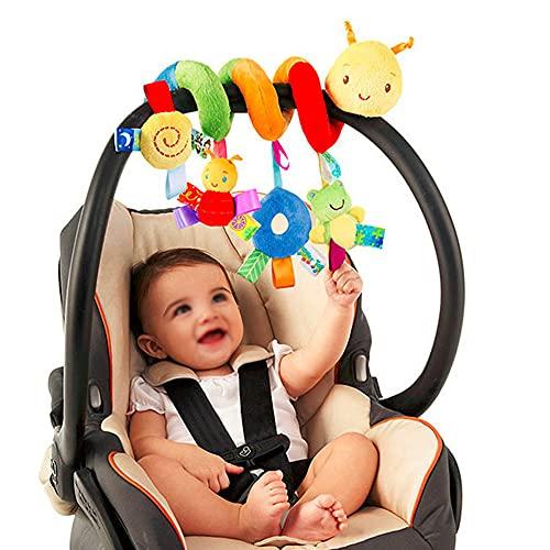 Giocattolo a spirale per culla, giocattolo per passeggino, giocattolo a spirale, per attività a forma di passeggino, giocattolo per passeggino, con campanellino, morbido peluche per neonati22