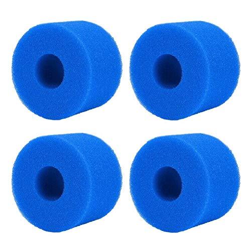 SRTYZ Filterkartusche Poolfilter Filter Ersatzfilter, 4 x Filterkartuschen Schwamm für Intex Typ S1 Filter, Waschbarer Spa-Filter für Spa, Wiederverwendbare Filterkartuschen