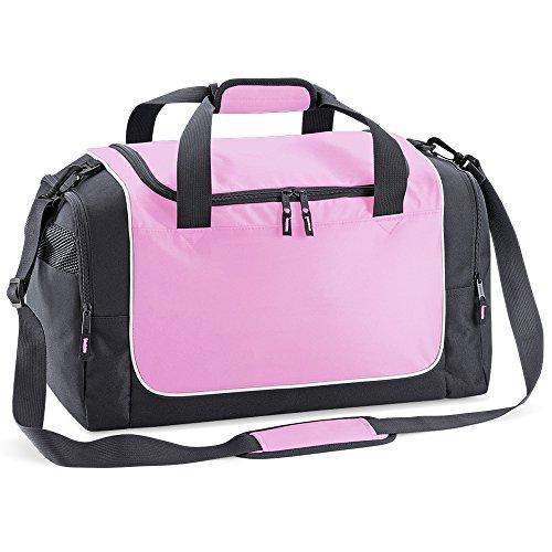 Quadra - sac de sport compact 30 L - QS77 - LOCKER BAG - coloris rose/gris/blanc