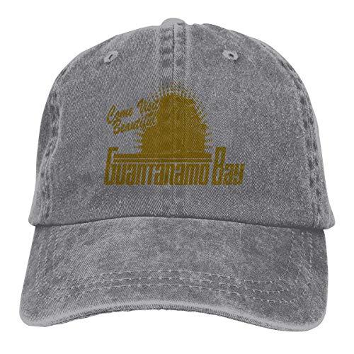RFTGB Gorras Unisex Accesorios Sombreros Gorras de béisbol Sombreros de Vaquero Guantanamo Bay Cuba Denim Baseball Cap, Unisex Vintage Dad Hat, Golf Hats, Adjustable Plain Cap